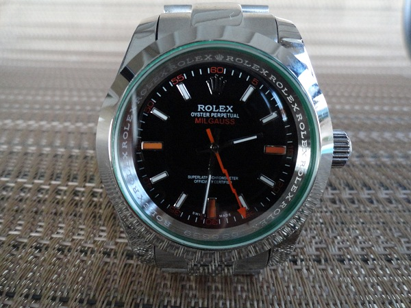 Rolex Milgauss replique Avec cristal vert