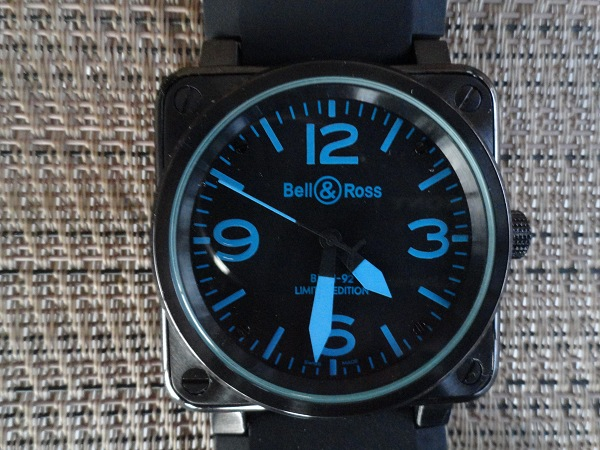 Replique Bell & Ross Carbon Blue Montre
