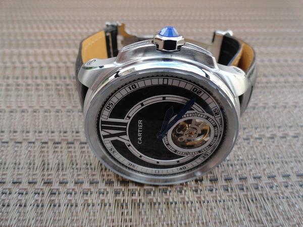 Calibre de Cartier Replique montre Vue latérale