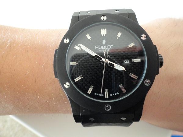 Hublot Classic Fusion toute l'replique montre noir