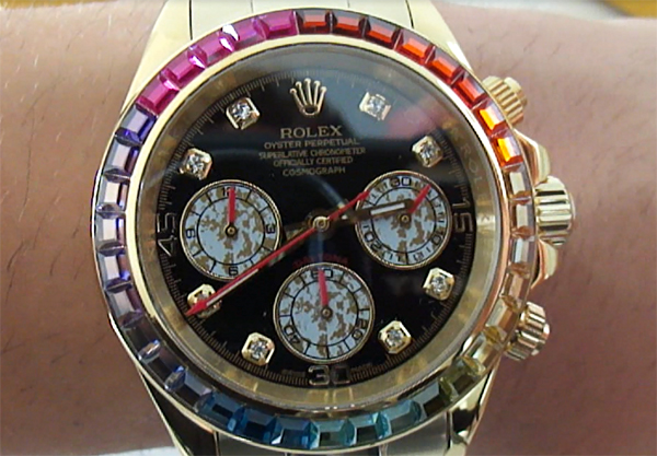 Rolex Daytona en or jaune arc replique montre