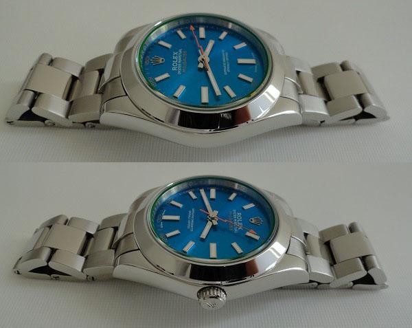 acier inoxydable Rolex Milgauss Cadran Bleu
