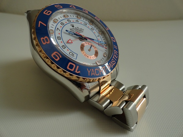 Deux tons montre SS or rose Yachtmaster replique