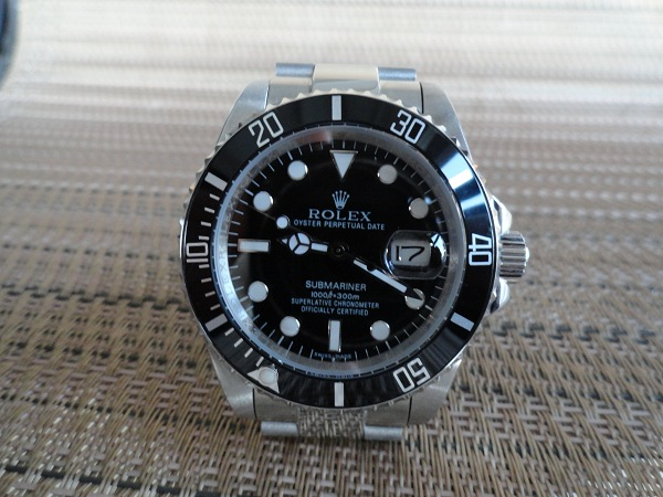 Rolex Submariner replique montre SS noir
