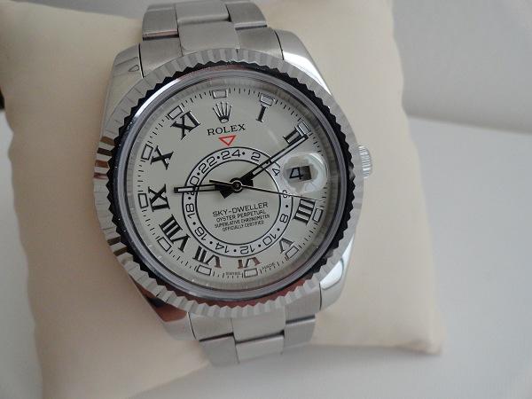 Rolex Sky Dweller acier inoxydable réplique montre