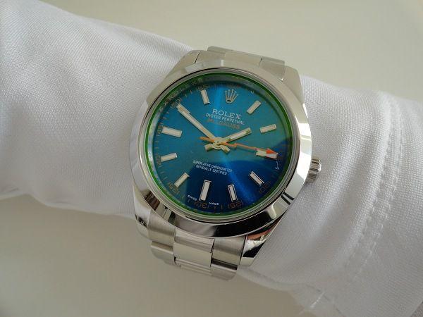 Rolex Milgauss bleu réplique montre