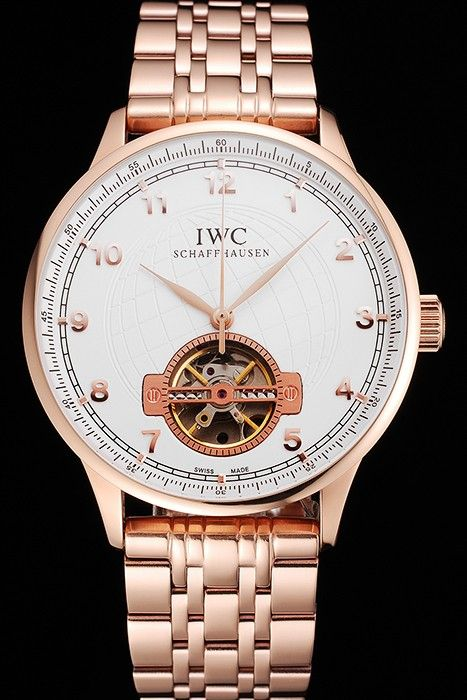 IWC Portugieser Tourbillon Réplique En Or Rose