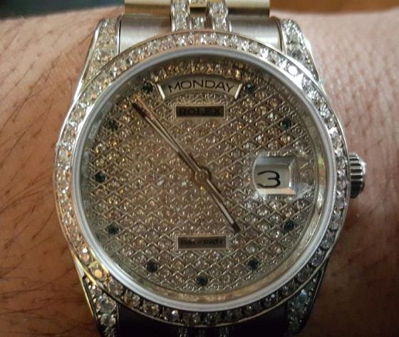 Replique Rolex DayDate Diamond Clad