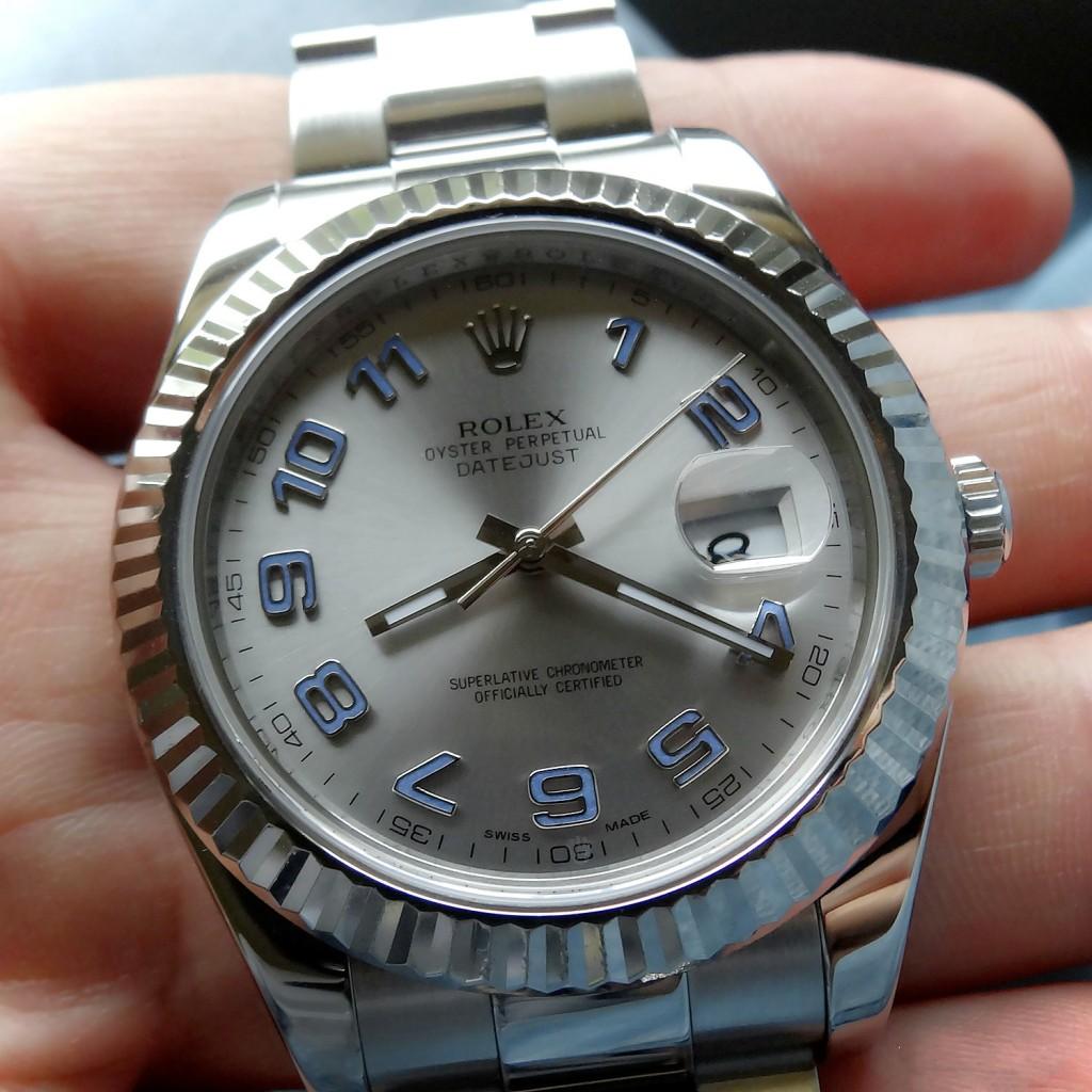 634a7a4964f Blanc Biseaux d or Réplique Montres Rolex Datejust II