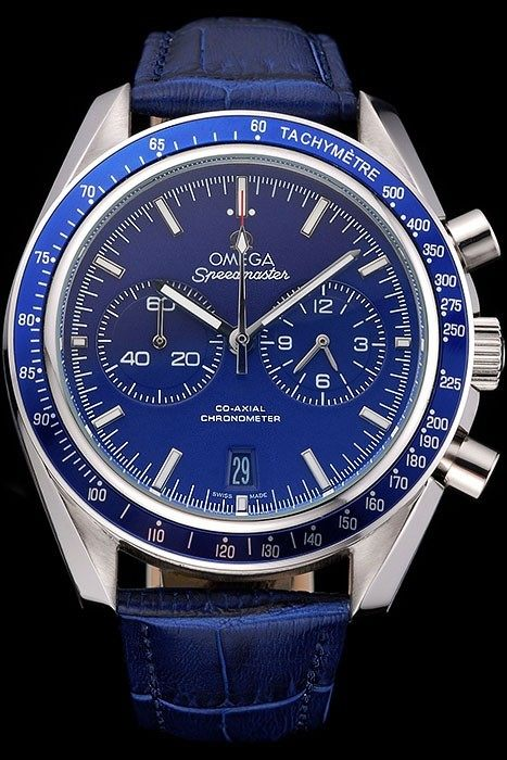 Omega Speedmaster Blue Dial Copie Montre