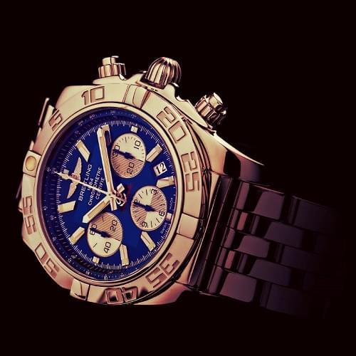 Montres Breitling Hommes Chronomat 44 Bleu Cadran