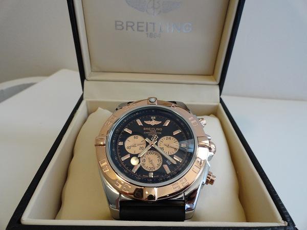 Réplique Montre Breitling Chronomat En Or Rose