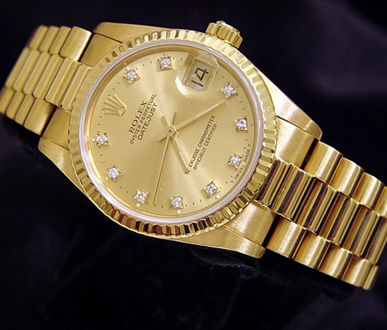 Réplique-En-Or-Rolex-Datejust
