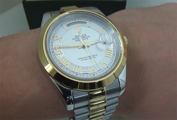 Montre-Rolex-DayDate-Two-Tone