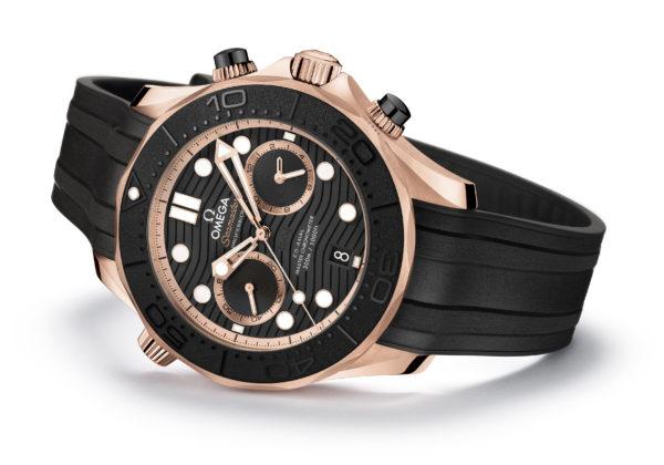 Copie Omega Seamaster Diver 300M Chronograph Sedna Gold