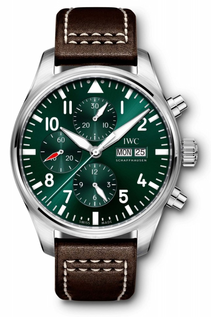Copie IWC Pilots Watch Chronograph Edition Racing Green IW377726