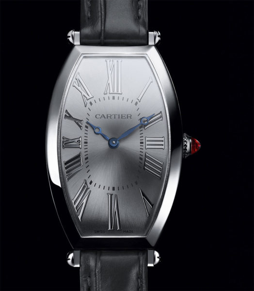 Copie Cartier Prive Tonneau Platine