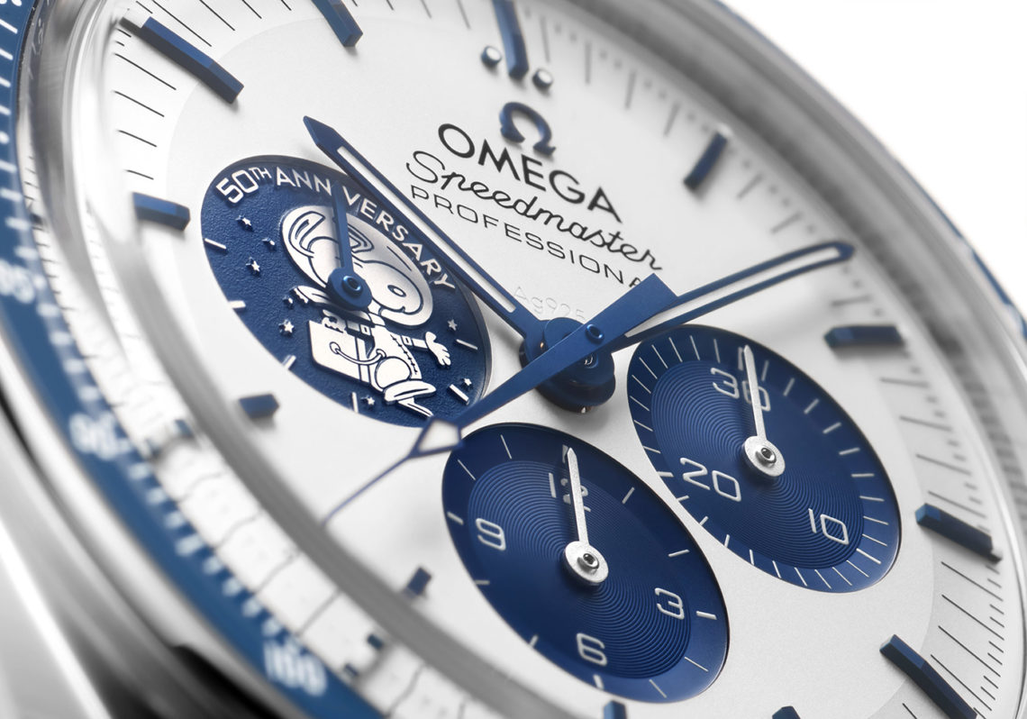 Réplique Omega Speedmaster Professional Silver Snoopy 50th Anniversary