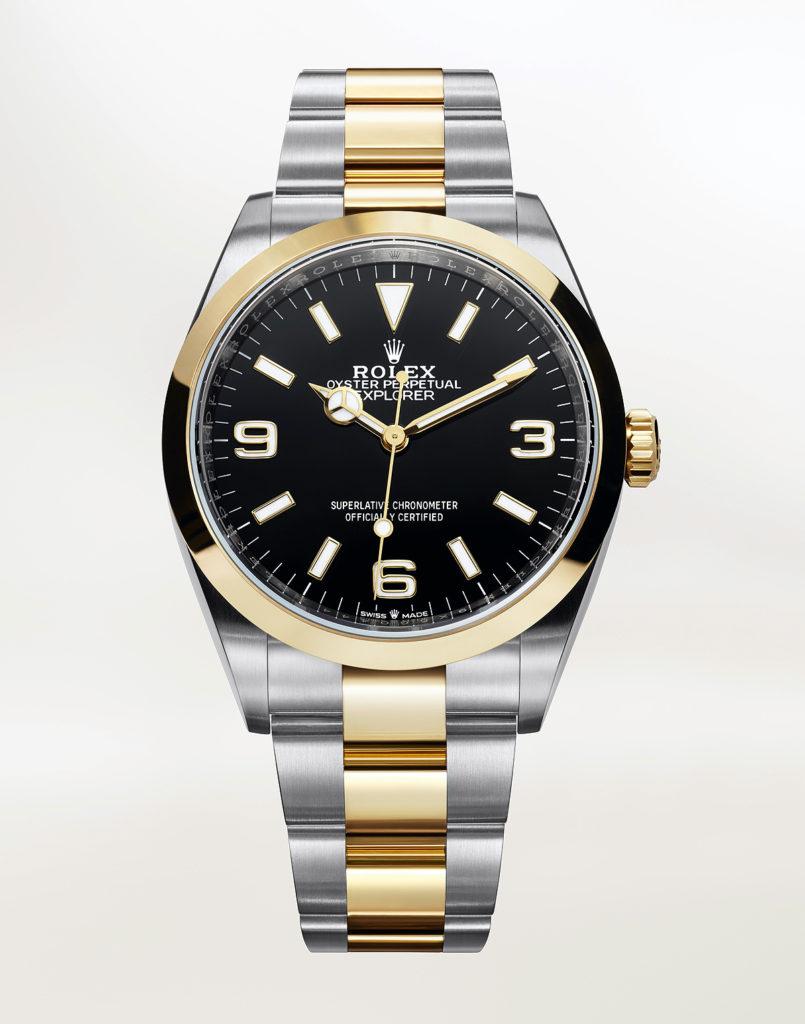Replique Montre Rolex Oyster Perpetual Explorer Rolesor Jaune
